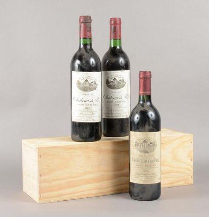 3 bouteilles CH. DE PEZ, Saint-Estèphe [1...