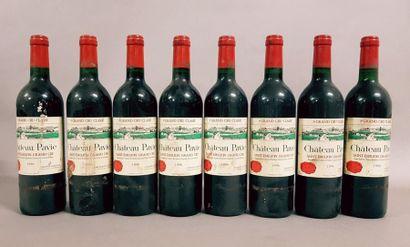 8 bouteilles CH. PAVIE, 1° Grand Cru St-Emilion...