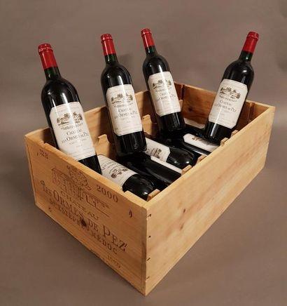 10 bouteille CH. LES ORMES DE PEZ, Saint-Estèphe...