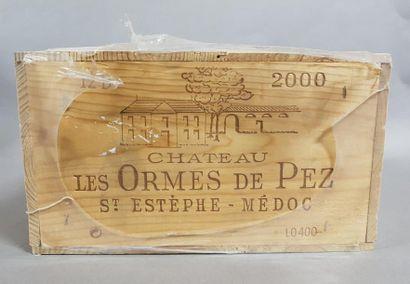 12 bouteilles CH. LES ORMES DE PEZ, Saint-Estèphe...