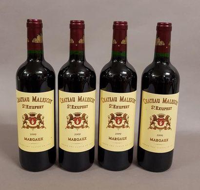 4 bouteilles CH. MALESCOT-SAINT-EXUPERY,...
