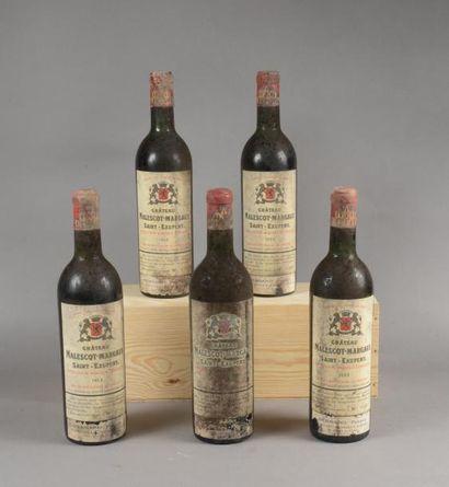 5 bouteilles CH. MALESCOT-SAINT-EXUPERY,...