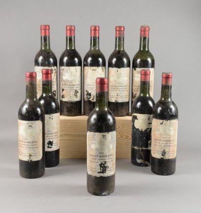 10 bouteilles CH. PEYMOUTON, St-Emilion 1959...