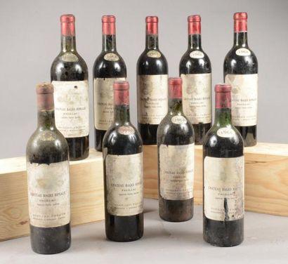 9 bouteilles CH. BAGES-RIPEAUX, Pauillac...