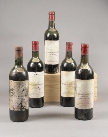 5 bouteilles CH. GOMBAUDE-GUILLOT, Pomerol...
