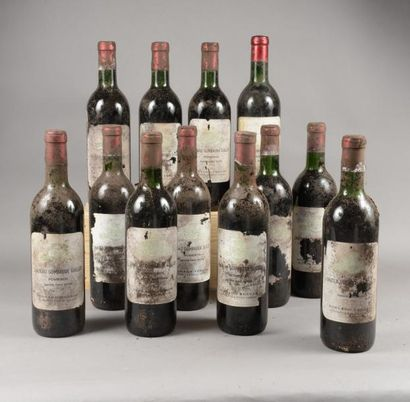 12 bouteilles CH. GOMBAUDE-GUILLOT, Pomerol...