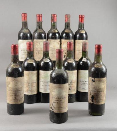 12 bouteilles CH. MARTINENS, Margaux 1964...