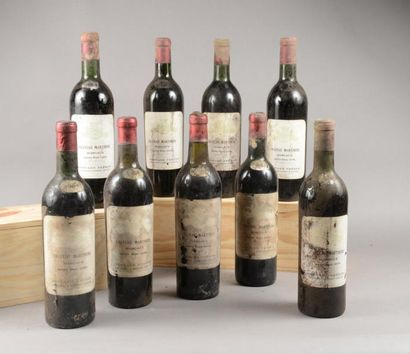 9 bouteilles CH. MARTINENS, Margaux 1964...