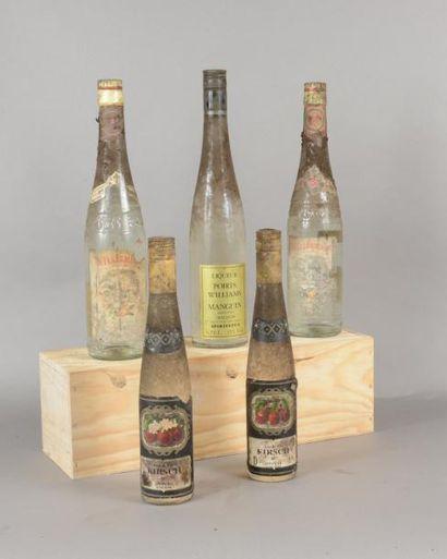 Ensemble de 5 bouteilles 3 bouteilles POIRE...