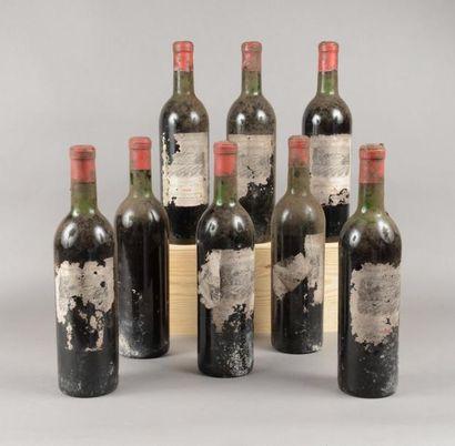 8 bouteilles CH. DUHART-MILON, 4° cru Pauillac...