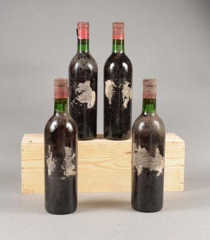 4 bouteilles CH. LAFITE-ROTHSCHILD, 1° cru...