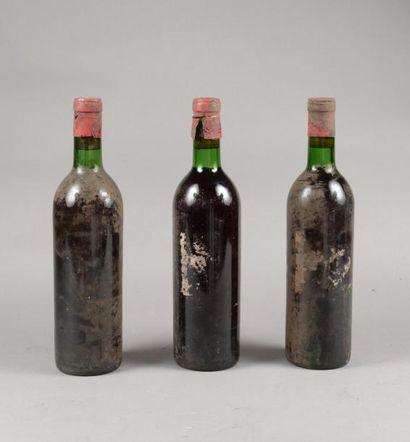 3 bouteilles CH. LAFITE-ROTHSCHILD, 1° cru...