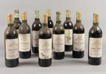 10 bouteilles CH. FONBADET, Pauillac 1969...