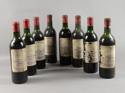 8 bouteilles CH. TOUR DE MONS, Margaux 1969...