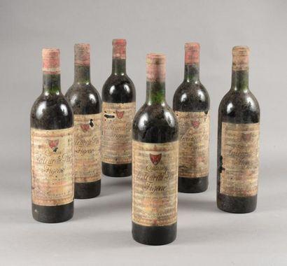 6 bouteilles CH. LA TOUR DU PIN FIGEAC, Grand...