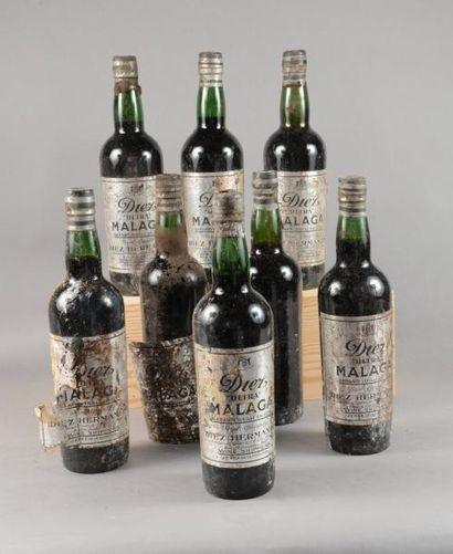 8 bouteilles MALAGA «Ultra», Diez Hermanos...