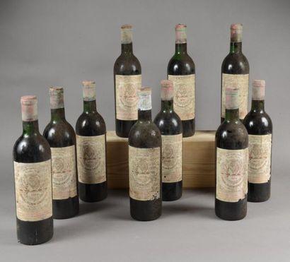 10 bouteilles CH. PICHON LONGUEVILLE-BARON,...