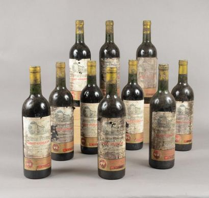 11 bouteilles CH. PEYREAU, St-Emilion 1974...