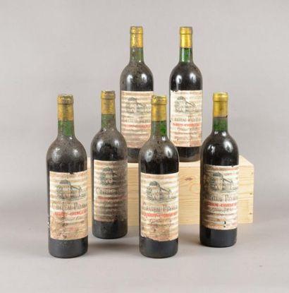 6 bouteilles CH. PEYREAU, St-Emilion 1974...