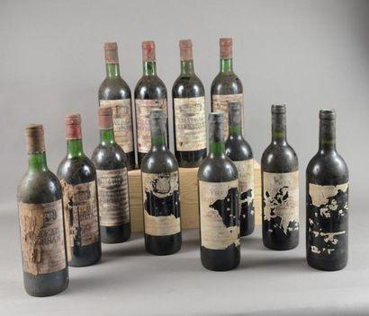 7 bouteilles CH. LIVERSAN, Haut-Médoc 1979 (eta, TLB; on joint 5 Vieux Grenet 1995...