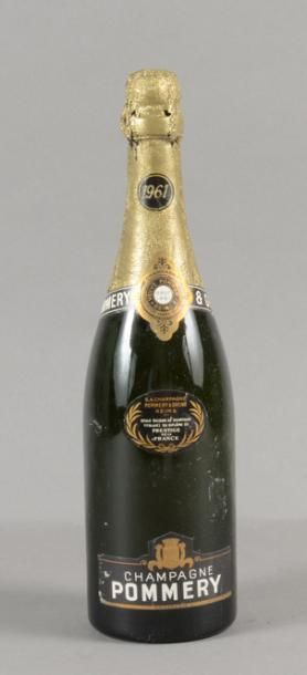 1 bouteille CHAMPAGNE Pommery 1961 (LB)