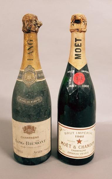 Ensemble de 2 bouteilles 1 bouteille CHAMPAGNE...