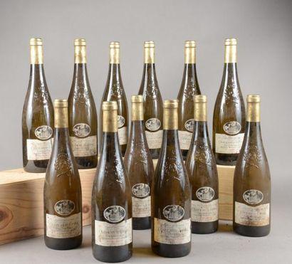 12 bouteilles SAVENNIERES «Le Hu Boyau»,...