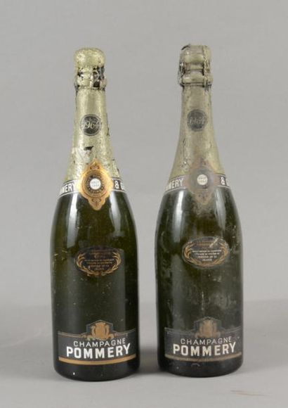 2 bouteilles CHAMPAGNE Pommery 1964 (TLB...