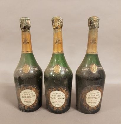 3 bouteilles CHAMPAGNE «Grand Trianon», A...
