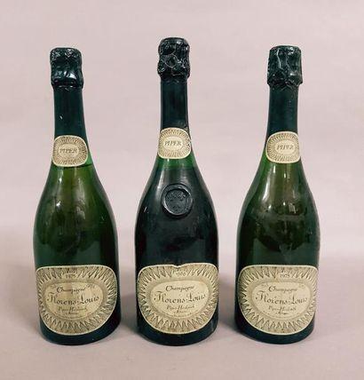 3 bouteilles CHAMPAGNE «Florens-Louis», Piper-Heidsieck...