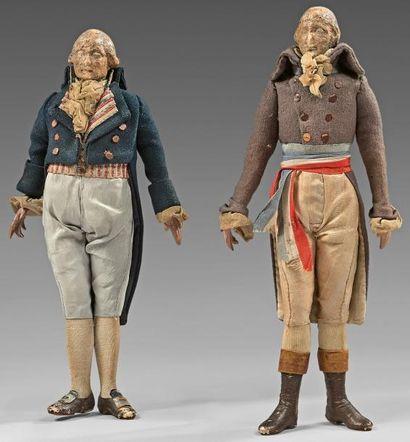 Deux très rares effigies habillées de Robespierre...
