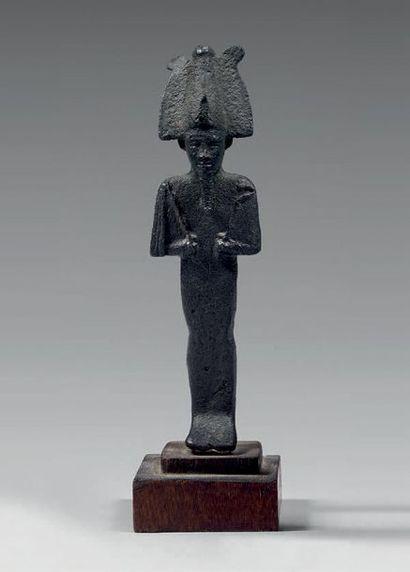 Statuette d'Osiris momiforme tenant le sceptre...