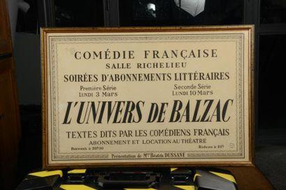 23 THEATRE Affichette Annonce pour la Comédie...