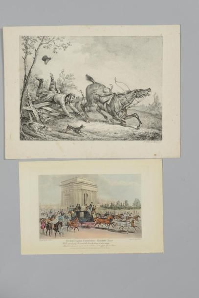 4 CHASSE – CHEVAUX - VOITURES Cavaliers,...