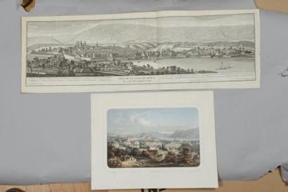 42 SUISSE : vues de Sion, Genève (vue de...