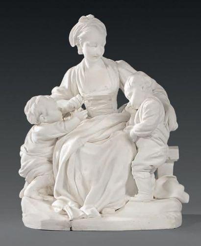 * Groupe en biscuit de porcelaine de Sèvres...