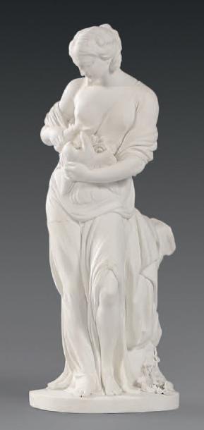 * Statuette en biscuit de porcelaine de Sèvres...
