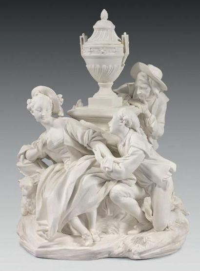 * Groupe en biscuit de porcelaine de Vincennes-Sèvres...
