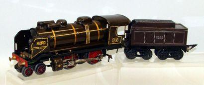 JEP : Locomotive électrique 220 NORD, marron...