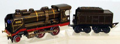 JEP : Locomotive mécanique 120 NORD, marron...