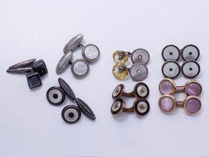 Lot en argent 800 millièmes et métal, composé...