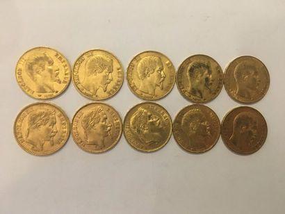 10 pièces de 20 Francs or