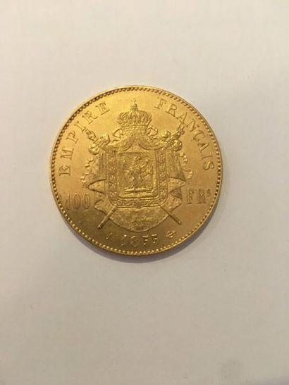 Pièce de 100 Francs or 1855