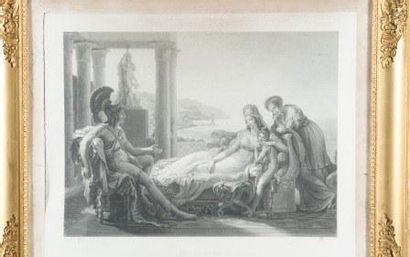 Scène antique et Eros et Psychée Deux gravures...