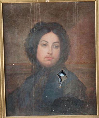 Ecole Française vers 1860 Portrait de femme...