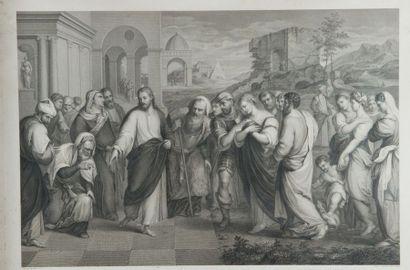 Ensemble de 4 gravures : Noces de Cana Dim.:...