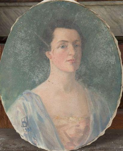 Ecole FRANCAISE du XXème siècle Portrait...