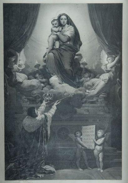 Lot de deux gravures: D'après Jean Auguste...
