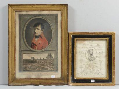 Portrait de Cambacérès: gravure calligraphique...