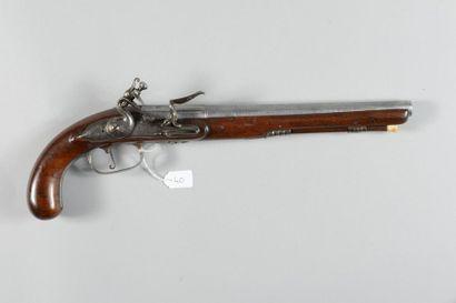 Pistolet à silex, canon à trois registres,...
